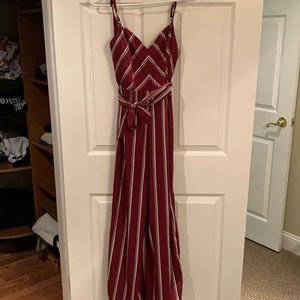 Red striped jumpsuit!